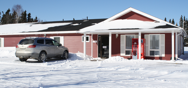 Outside view of motel in Gander, NL