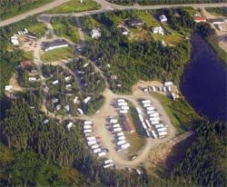 Aerial view of grounds | Country Inn Motel & RV Park
